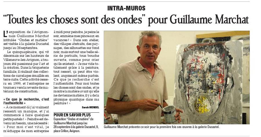 Guillaume Marchat Le Dauphiné libéré