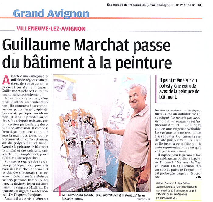 Guillaume Marchat La Provence