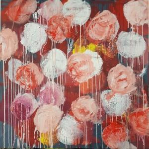 1500 euros: Fleurs rouges et blanches