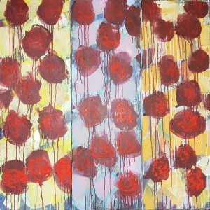 1800 euros: Fleurs tryptique